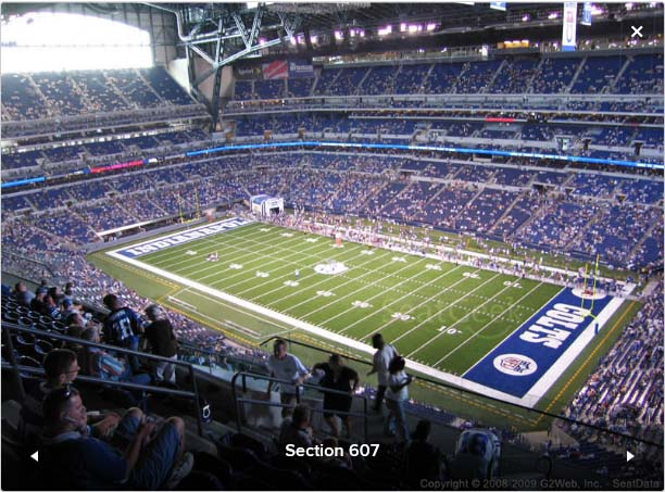 Please read the entire listing as the majority of your for Terrace end zone lucas oil stadium